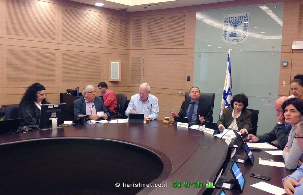 השר אורי אריאל היום בוועדת הכלכלה