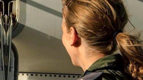 רב סרן ג' מונתה לפקד על טייסת טיסה בחיל האוויר הישראלי | צילום: אדר יהלום, אתר חיל האוויר | עיבוד צילום: שולי סונגו