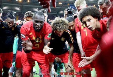 נבחרת בלגיה במשחק מול נבחרת יפן 2:3 בדקה ה-90