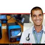 פרופ' נמרוד מימון מומחה ברפואה פנימית ובמחלות ריאה, מרכז הרפואי סורוקה ברקע: מכשירי סופיה ישראל ספק בדיקות מיידיות של קורונה | Covid-19 | צולם בהדרכה, סופיה ישראל על בדיקות מיידיות